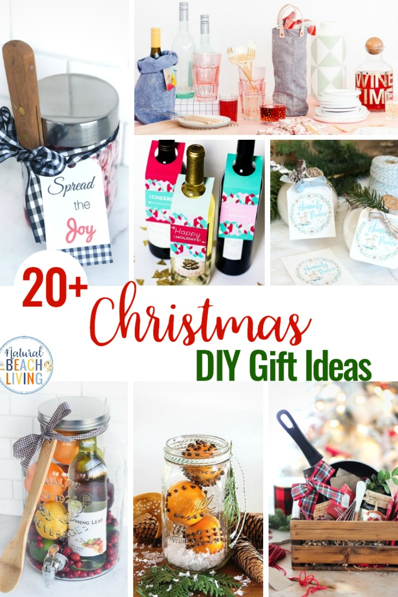 21+ DIY Christmas Gifts, Hostess Gift Ideas, Creative Christmas gifts including easy mason jar gifts, homemade foodie gifts, unique gift ideas and gifts for coworkers, DIY Christmas Gifts for friends and Familyl. Hostess Gifts for Christmas