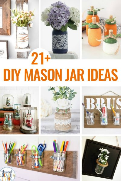 21+ DIY Farmhouse Mason Jars That Look Amazing