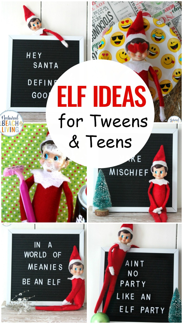 Elf on the Shelf Ideas for Teens and Tweens, If you have older kids you want to continue the family tradition in a way your teens can enjoy. These Elf on the Shelf ideas will be loved by your toddlers too. Whether your funny little elf on the shelf hangs out in the bathroom or leaves notes on the letter board, your whole family will love it.