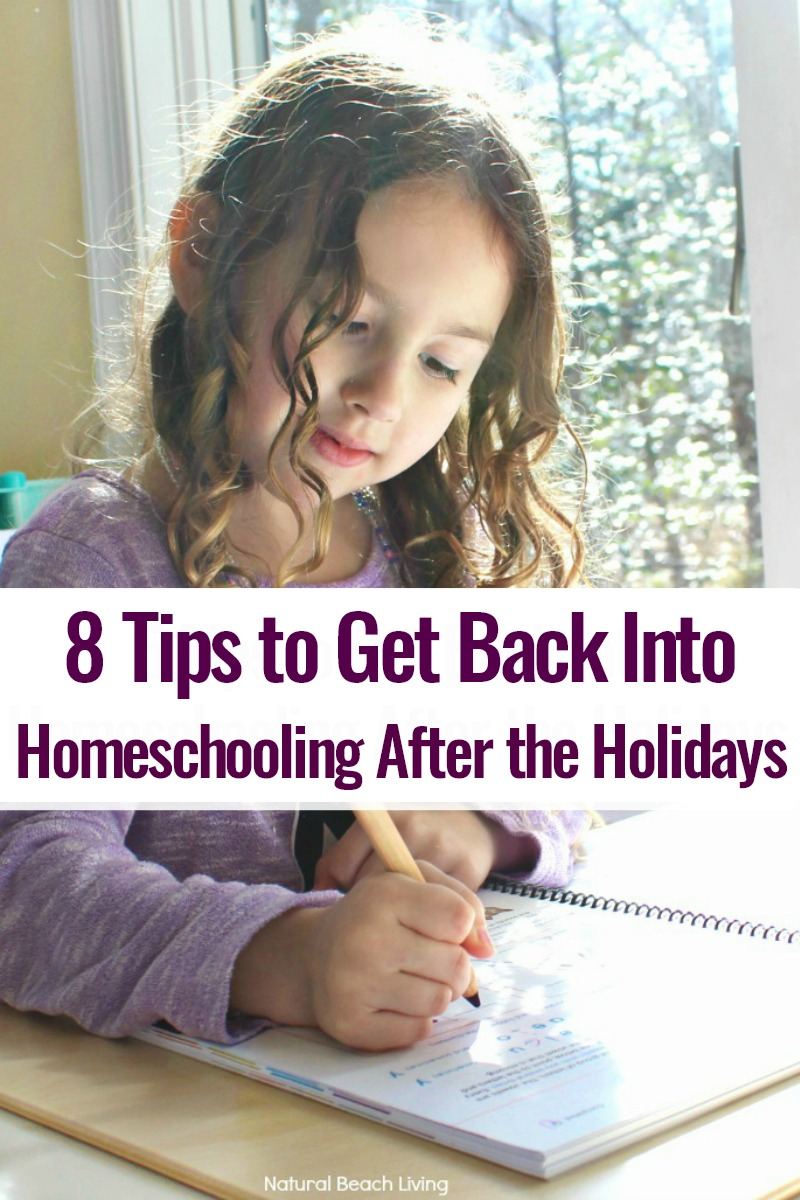 How to Get Back Into Homeschooling After the Holidays, Tips to Homeschooling After a Break, Having a positive attitude, reading aloud to kids, meal planning and so much more are a few tips to make it a bit easier and build a homeschool routine everyone enjoys.
