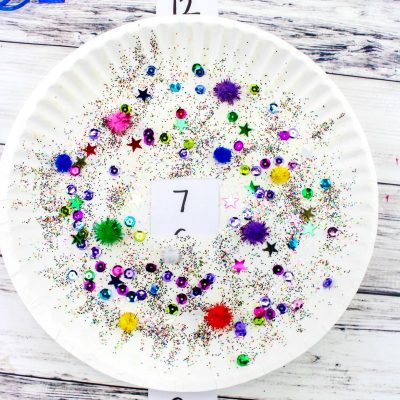 New Year's Eve Countdown Paper Plate Craft for Kids