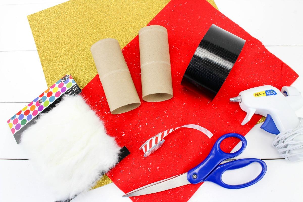 Santa Binoculars Christmas Craft for Kids, These DIY Santa Binoculars Christmas Craft are perfect for kids to make in December, This is an easy Christmas Craft for Kids, You can make an adorable Santa craft with your kids to Search for Santa with their very own DIY Santa binoculars