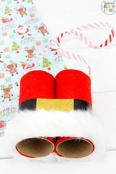 Santa Binoculars Christmas Craft for Kids