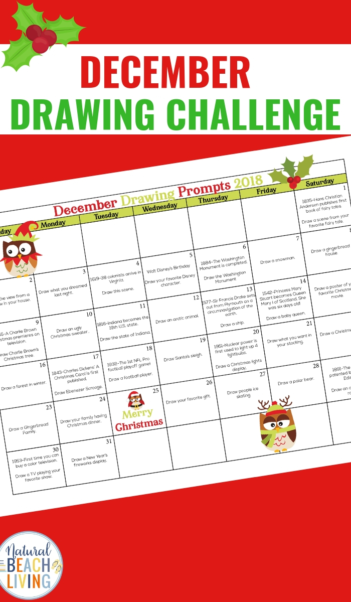 December Drawing Challenge – 31 Day Drawing Challenge