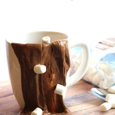 Hot Chocolate Slime Recipe with Contact Solution