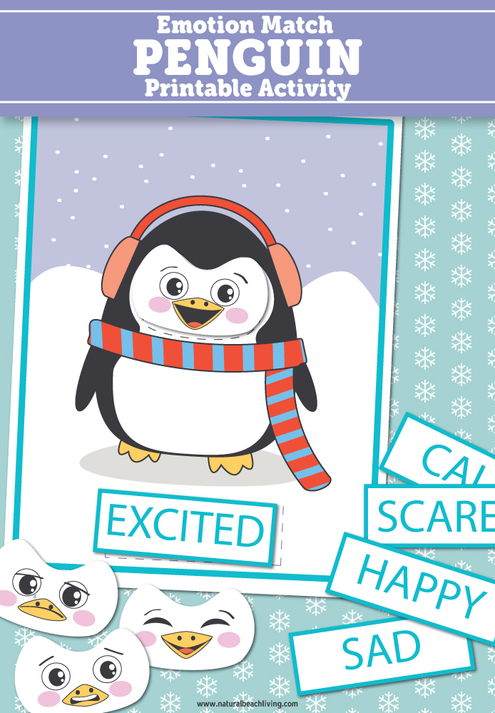 Preschool Emotions Printables Penguin Activities - Natural ...