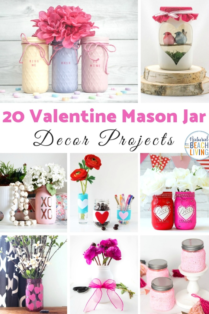 Mason Jar Crafts for Valentine's Day, Mason Jar Candles, Mason Jar Decoration, Valentine's Day Mason Jar Ideas That everyone will love having. These Valentine Mason Jar Crafts make great gifts, decorations, and craft ideas. You'll find everything from mason jar candles to mason jar slime gifts kids and adults love them.