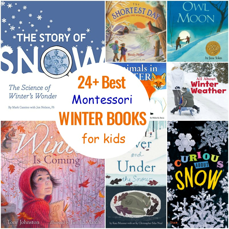 Montessori Books for Winter, Winter Books for Preschoolers, Toddlers, and Kindergarten, January Themes for Preschoolers and Books to go with Winter Themes, Winter Animal books, Snow books, Best winter books for Kids