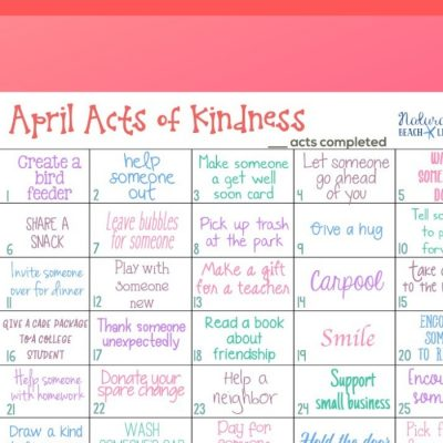 April Random Acts of Kindness Calendar