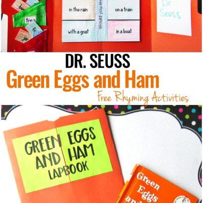 Green Eggs and Ham Activities for Preschool and Kindergarten