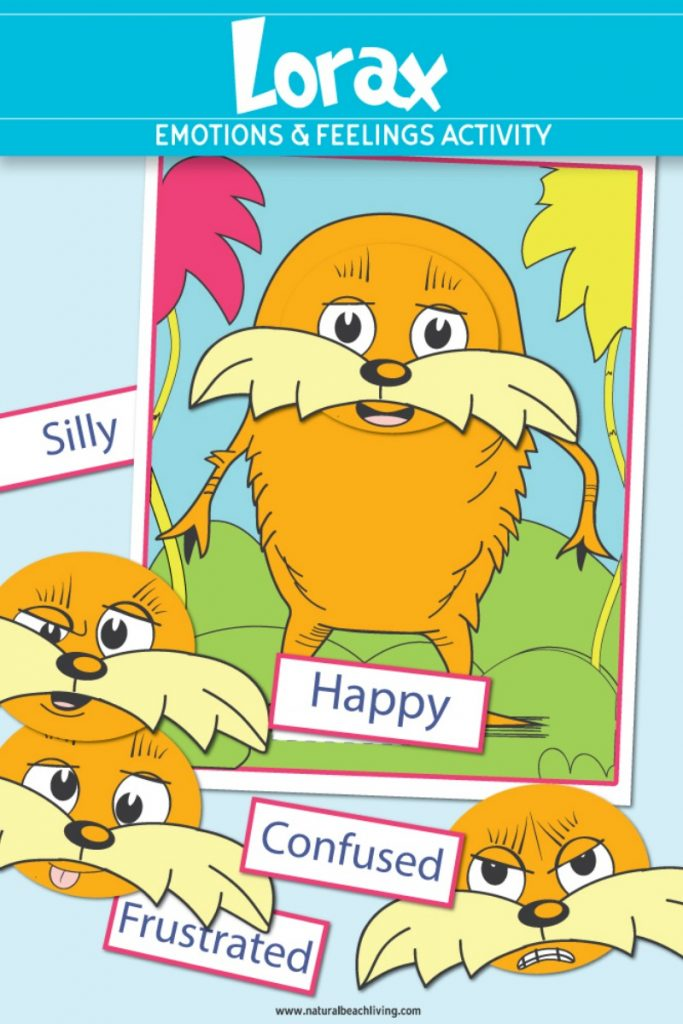 Dr. Seuss Printables Preschool Emotions Lorax Activities, we love these feelings and emotions activities for preschoolers, add this to a Dr. Seuss Theme to celebrate Dr. Seuss Birthday. You can download and print these preschool emotions printables for free.