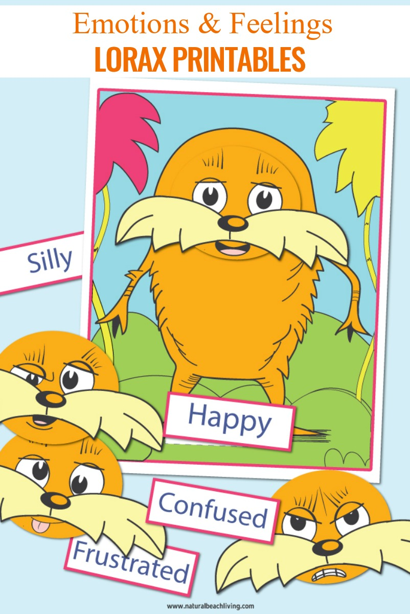 Dr. Seuss Printables Preschool Emotions and Feelings Lorax Activities