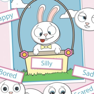 Preschool Emotions Printables Easter Bunny