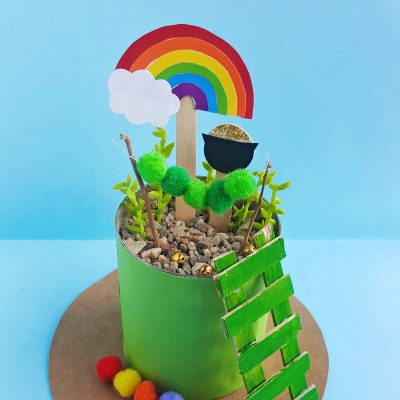 Leprechaun Garden-St. Patrick's Day Craft for Preschoolers