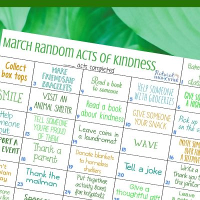 March Random Acts of Kindness Calendar