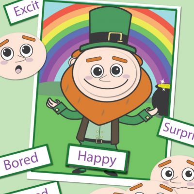St. Patrick's Day Preschool Emotions and Feelings Printables Leprechaun Activities