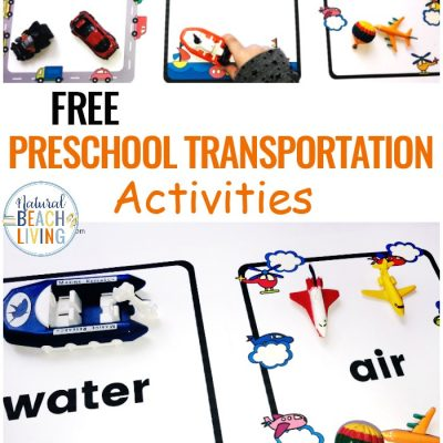 Preschool Transportation Theme Printables – Sorting Land Air Water Transport