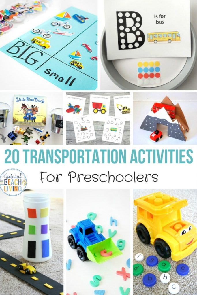 These Preschool Transportation Activities give your children the opportunity for hands-on learning activities. Transportation Theme Preschool Activities, Transportation Activities for Preschool, Driving cars and trucks down ramps, flying airplanes, and even building boats can be a part of their preschool transportation theme.