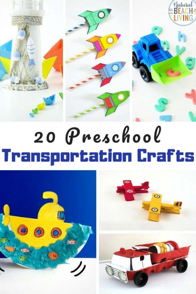 Preschool Transportation Crafts are so fun that is why today we are sharing over 20 transportation theme preschool crafts for you and your children to make. Whether it's hot air balloons, paper roll cars, STEAM rocket ships, or something else you want to add to your transportation lesson plans you can find it here. Fun Transportation Crafts