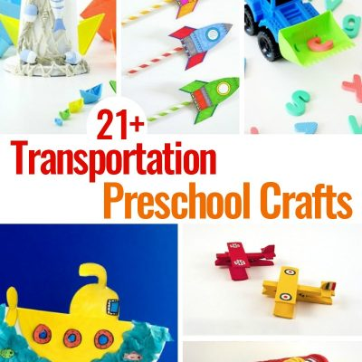 21+ Preschool Transportation Crafts Kids Love to Make
