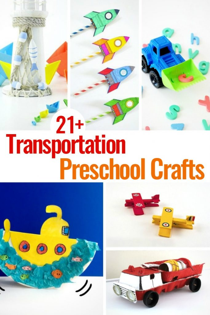 21 Preschool Transportation Crafts Kids Love To Make Natural