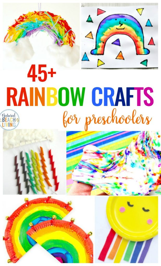 45+ Rainbow Crafts for Preschool, Here you will find the best Rainbow Crafts for kids. These crafts are perfect for a rainbow theme, rainbow activities or if you are looking for spring craft ideas. Rainbow arts and crafts are the best! Rainbow crafts for preschoolers