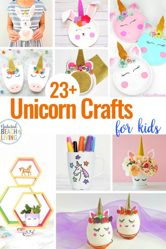 23+ Unicorn Crafts for Kids, Perfect Unicorn Craft Ideas for any unicorn fan. These super sweet unicorn crafts are perfect for preschoolers, teens, and adults. There are easy unicorn crafts for everyone that loves rainbows and unicorns crafts, cool unicorn crafts, DIY unicorn crafts, unicorn crafts for preschoolers