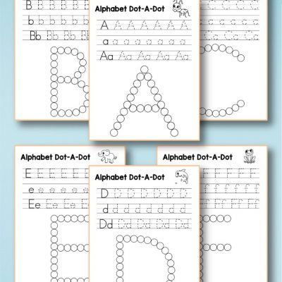 Alphabet Worksheets a-z – Free Q Tip Painting Printables