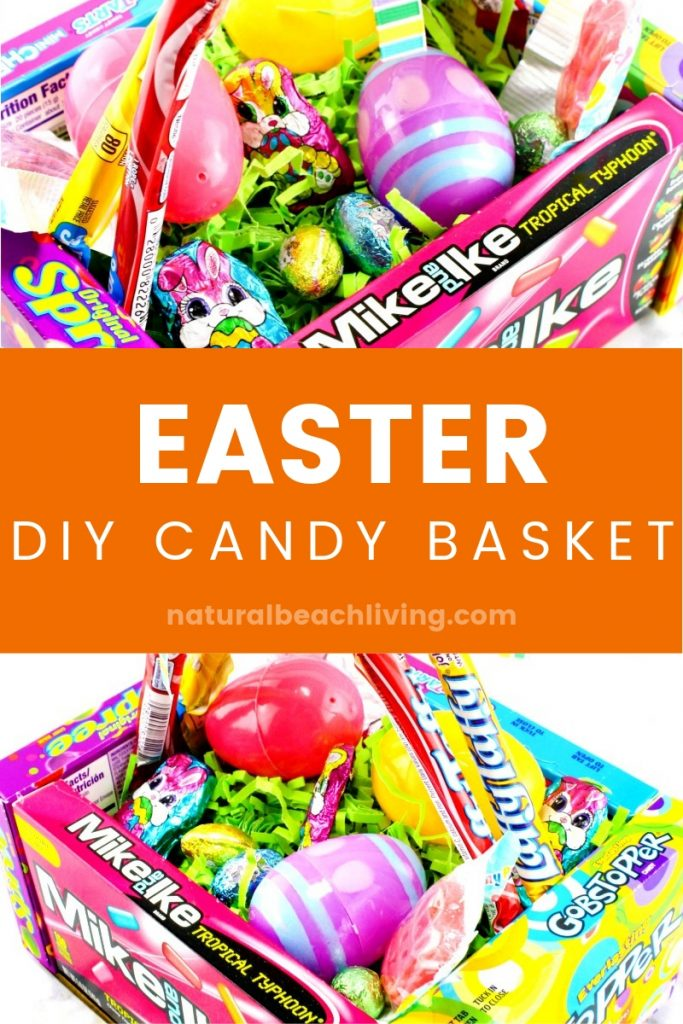 DIY Candy Easter Basket for Kids, Kids Love this Edible Easter Basket and it that makes a cool Easter gift, If you are on a Budget for Easter you can Find great Easter Ideas and Teen gift ideas for Easter Here #Easter