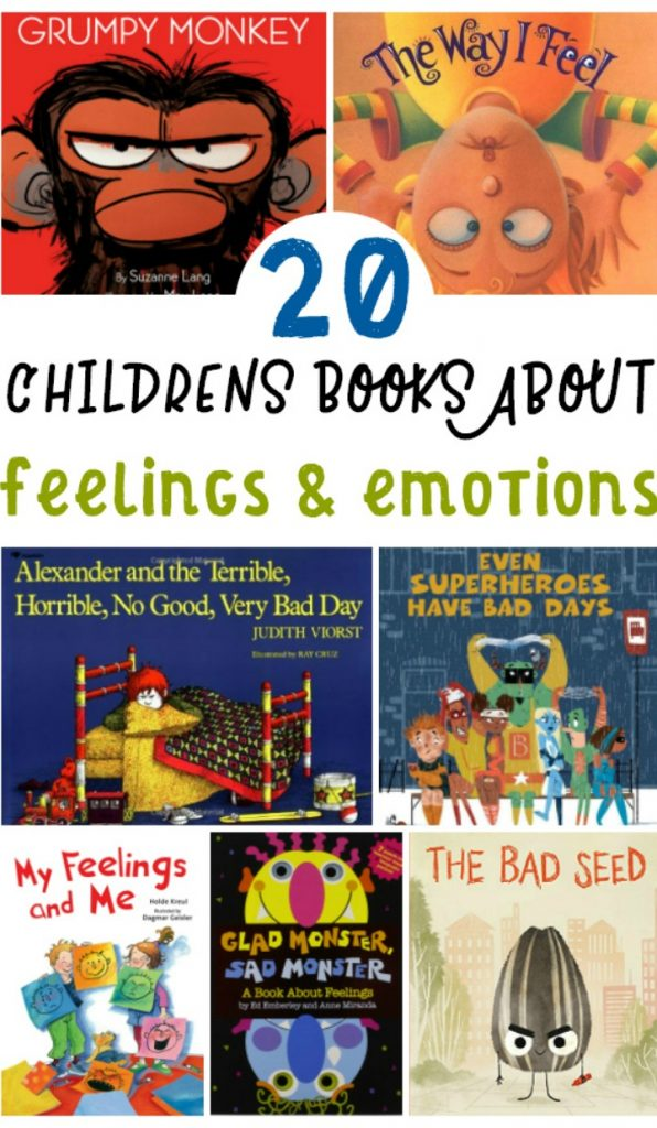 25+ Preschool Books about Feelings and Emotions will get your children excited about learning and exploring their emotions. Books about Emotions for Toddlers and Preschoolers and The Best Picture Books About Emotions for Toddlers and Preschoolers