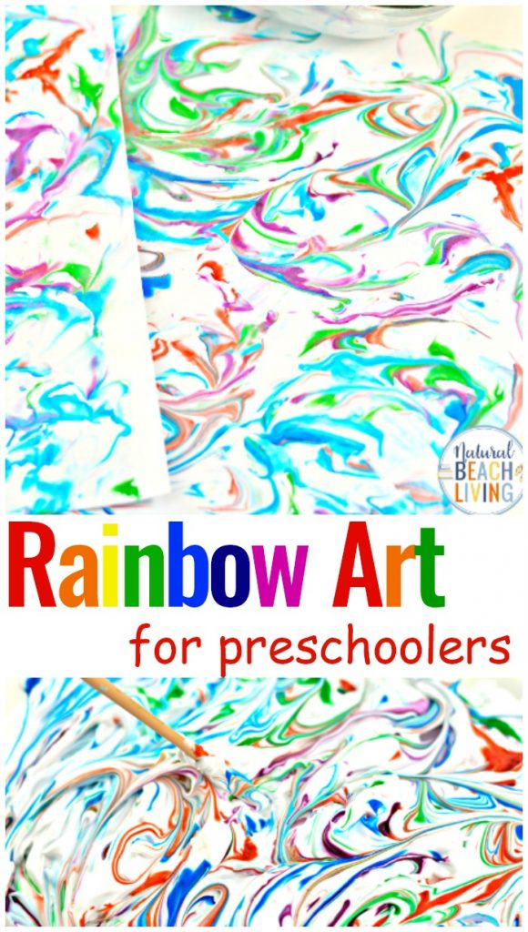 Rainbow Art for Kids Shaving Cream Art, Shaving Cream Marbling, For this fun art activity, all you need is a few simple supplies for a lovely rainbow shaving cream marbled paper. Preschool Art Activities, Explore color mixing with shaving cream and food coloring for beautiful shaving cream art.