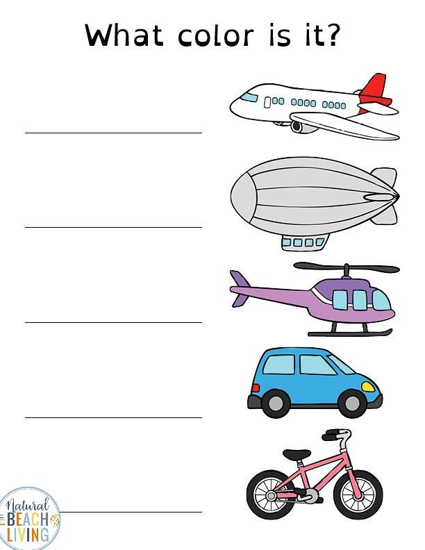Preschool Transportation Printables - Transportation Theme - Natural Beach  Living