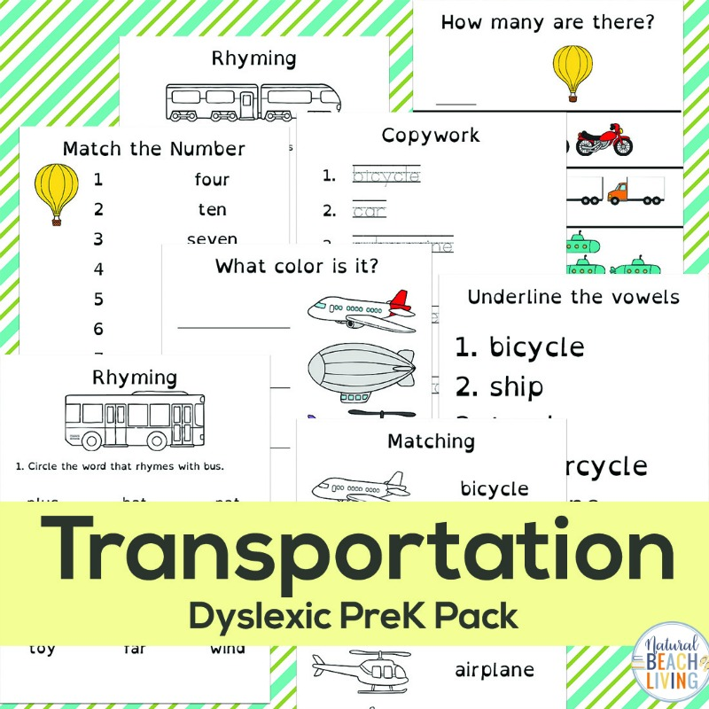 Free Preschool Transportation Printables and Transportatation Activities, Find complete Transportation theme activities and Lesson plans for Preschool and Kindergarten that include preschool math and literacy activities. Preschool Transportation Printables and 25 transportation crafts for a Preschool Transportation Theme