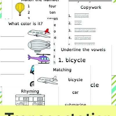 Preschool Transportation Printables – Transportation Theme