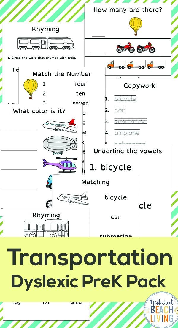 Preschool Transportation Printables – Transportation Theme