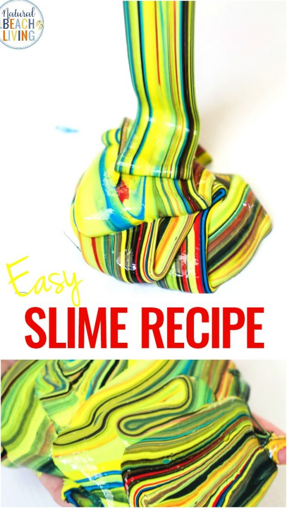 Make This Super Stretchy Slime Recipe with Liquid Starch, This Easy Slime Recipe is an AMAZING Jiggly Slime and it's the best EASY Liquid Strach Slime Recipe Ever! This 3 Ingredient sta flo slime recipe keeps kids busy with a fun sensory activity and Slime Science!
