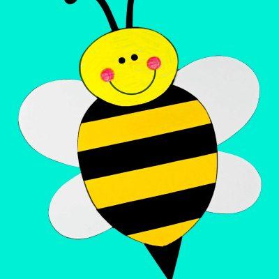 Preschool Bee Craft with Free Bee Template