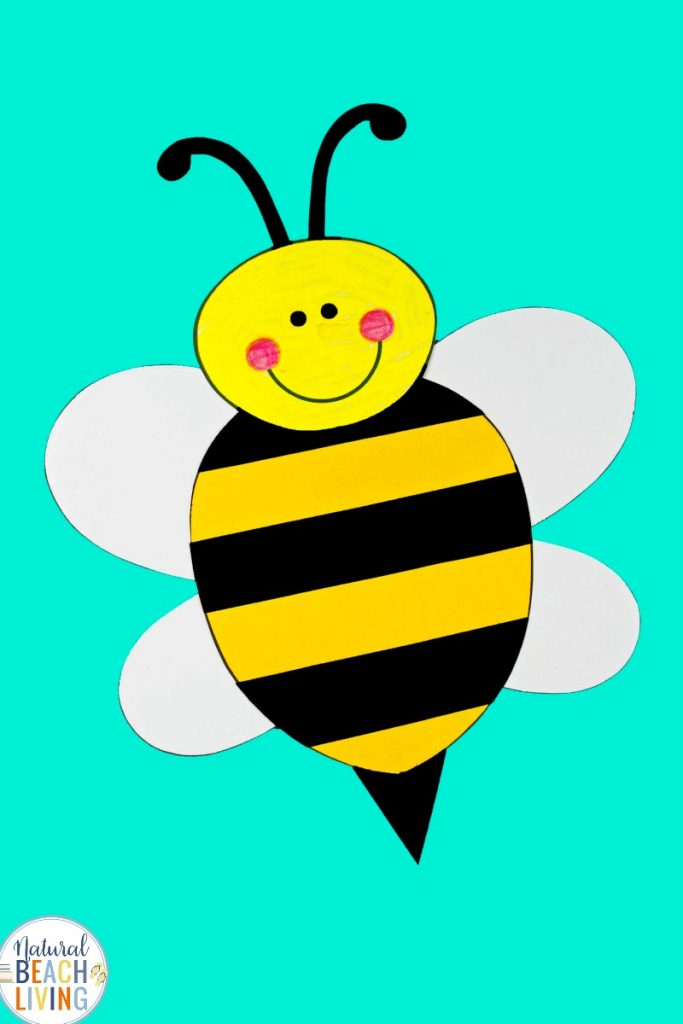 This adorable Preschool Bee Craft is perfect for Preschool and Kindergarten. Add this cute bumble bee craft to an insect theme for a fun hands-on activity, Perfect Spring Craft and Summer Craft for Kids, Free Bee Craft Template