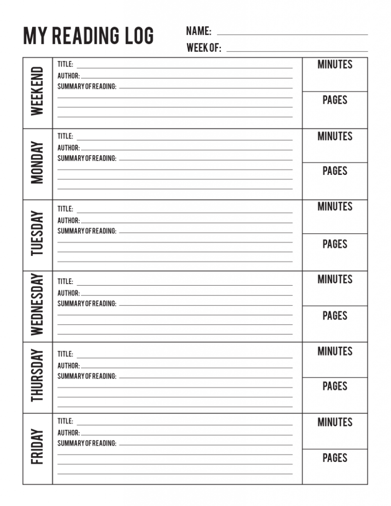 graphic regarding Free Printable Reading Logs named Studying Log Printable and E-book Post Printable Pack