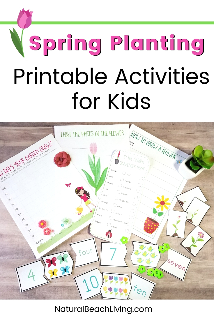 Preschool Garden Theme Printables, These gardening activities for preschoolers are perfect for hands on activities including Preschool math puzzles, Scavenger Hunt, Plant Life Cycle activities and Preschool sequence cards. This Spring Garden Theme is Perfect!