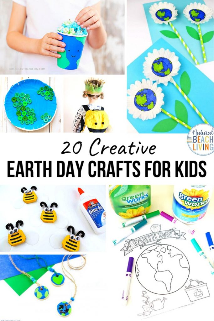 These Earth Day Crafts for Preschoolers are perfect for a fun spring craft idea. Here you can find crafts made from recycled materials, Earth Day projects, and even planet earth crafts for preschool. Earth Day Activities and Earth Day Ideas for the whole family