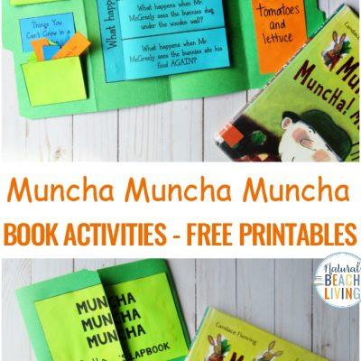 Muncha Muncha Muncha Activities for Preschoolers and Kindergarten