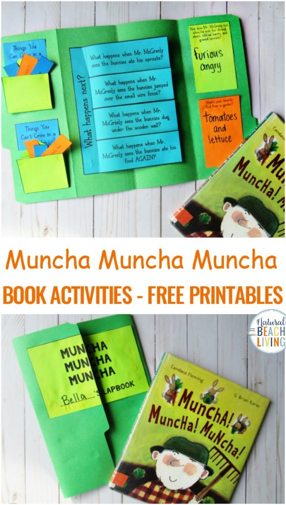 Muncha Muncha Muncha Activities for Preschool, Kindergarten, 1st grade and 2nd Grade. Muncha Muncha Muncha Lesson Plans with Free Printables and Lapbook, Preschool Gardening Theme and Activities with Sorting Activities, Homeschooling Spring Themes