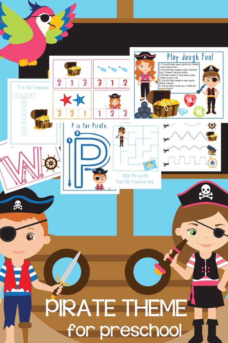 photo about Pirates Printable Schedule named Preschool Pirate Topic Printables