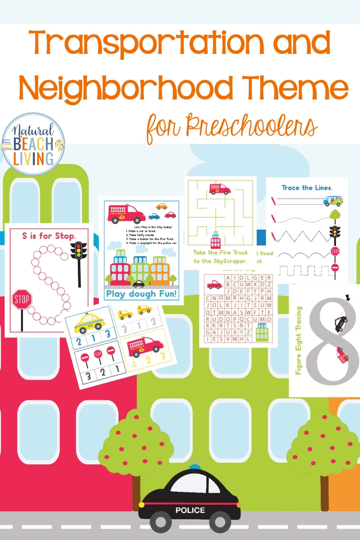 This Preschool Neighborhood Theme Printables Pack is full of fun City Life and Transportation activity sheets your children will love. Hands-on learning activities that include preschool math, alphabet activities, puzzles, language activities, alphabet activity sheets, playdough mats and more for every preschool theme!