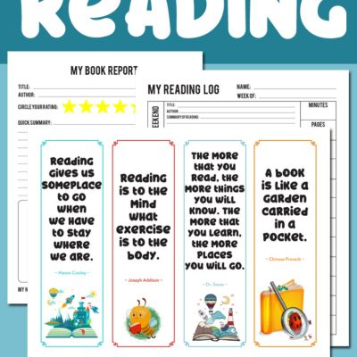 Reading Log Printable and Book Report Printable Pack