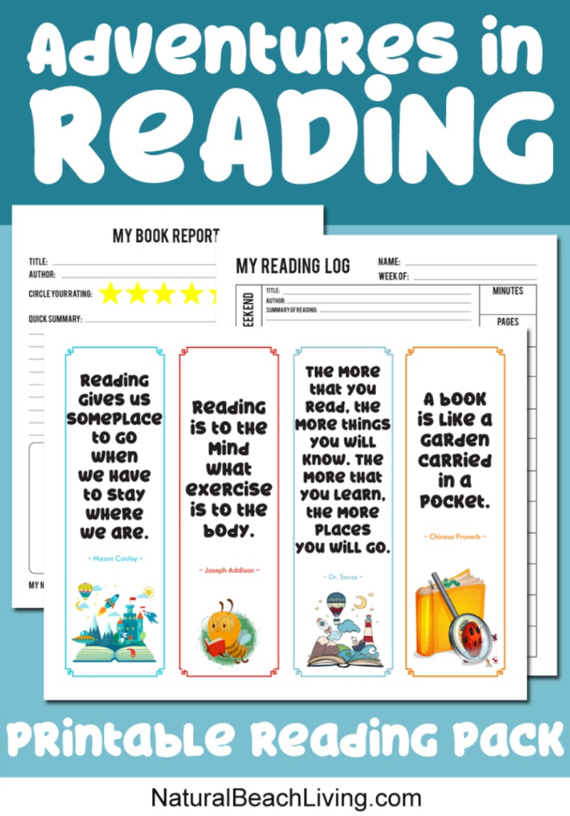 Reading Log Printable and Book Report Printable Pack