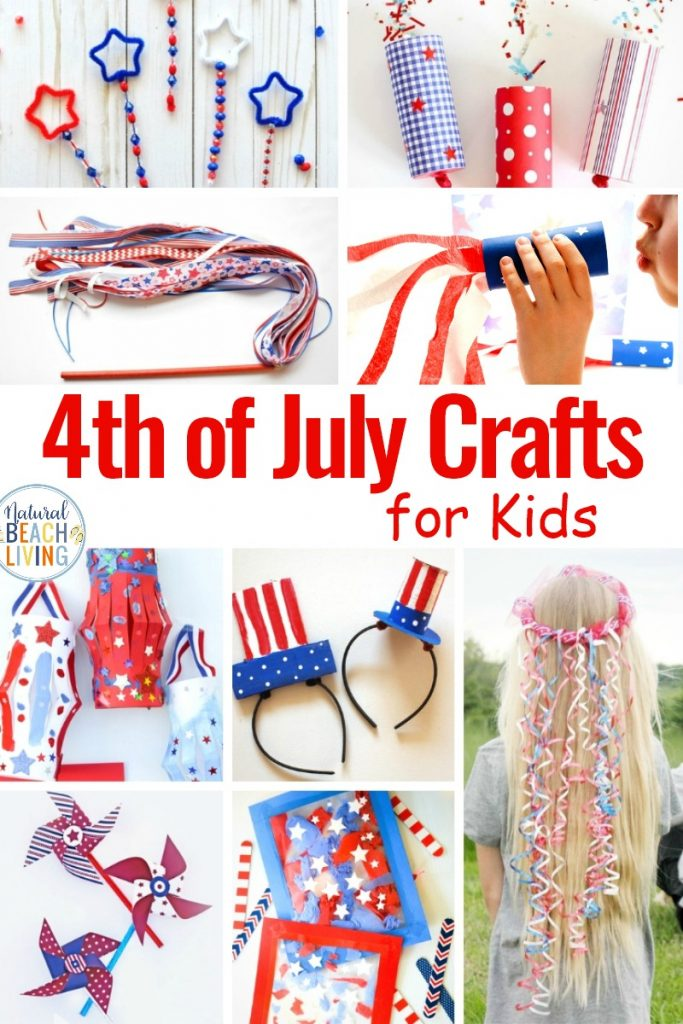 4th of July Crafts for Kids, This year celebrate the Independence Day by making festive 4th of July Crafts with your kids. From patriotic blowers, DIY bubble wands, and even 4th of July Slime Recipes. You'll find super fun and creative fourth of July crafts for kids here. Best Patriotic Crafts