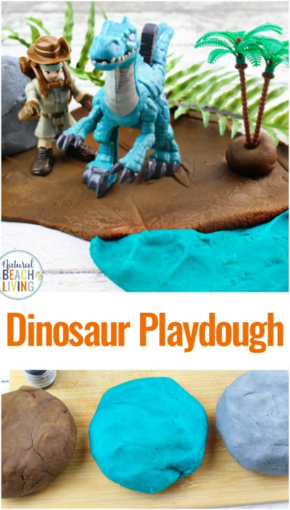 Dinosaur Play dough, Dinosaur Activities for Preschoolers and Toddlers, This Dinosaur Playdough is an easy homemade playdough recipe perfect for sensory activities and imaginary play for preschoolers. Add hands on activities to your Preschool Dinosaur Theme
