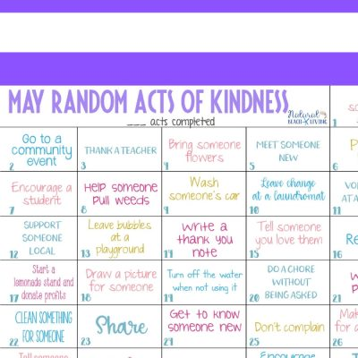 May Random Acts of Kindness Calendar